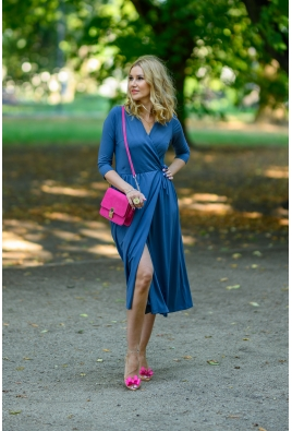 Sukienka WRAP DRESS GRAFIT